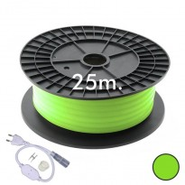 Neón LED CIRCULAR Flexible 220V Bobina 25m 16mm - 9,6W/m - Verde Area-led