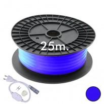 Neón LED CIRCULAR Flexible 220V Bobina 25m 16mm - 9,6W/m - Azul Area-led