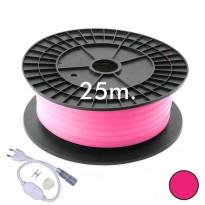 Neón LED CIRCULAR Flexible 220V Bobina 25m 16mm - 9,6W/m - Rosa Area-led