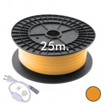 Neón LED CIRCULAR Flexible 220V Bobina 25m 16mm - 9,6W/m - Naranja Area-led - Tiras Led Y Neón Led