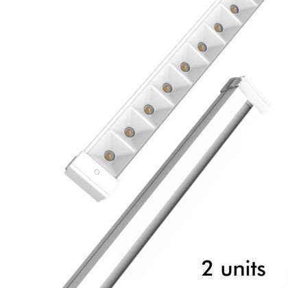Barra LED 28W Lineal HALLE DYNAMICS UGR19 para Techos tecnicos - Pack 2 unidades Area-led