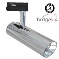 Foco LED 30W BERNA Cromo Plata para Carril Monofásico DOB Driverless 24º Area-led