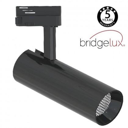 Foco LED 30W BERNA Cromo Negro para Carril Monofásico DOB Driverless 24º Area-led
