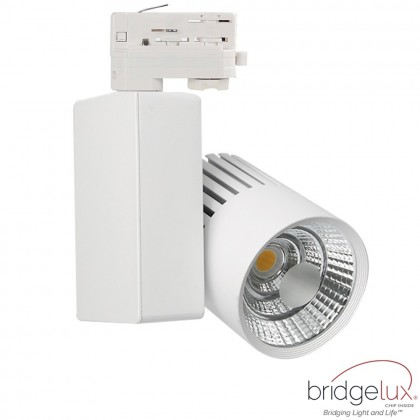 Foco LED 40W GRAZ Blanco para Carril TRIFASICO BRIDGELUX Chip 100º CRI +90 Area-led