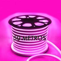 Neón LED Flexible 220V Bobina 50m X 8,5W/m Rosa