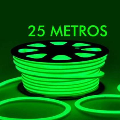 NeĂ³n LED Flexivel 220V Bobina 50m X 8,5W/m Verde