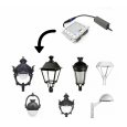Farola Medina Aluminio LED 40W LUMILEDS Area-led