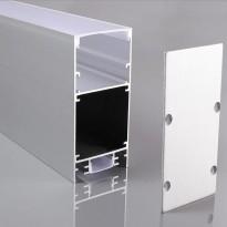 Perfil de alumínio INFINITY PRO DOUBLE LIGHT para fitas de LED - 2 metros Area-led