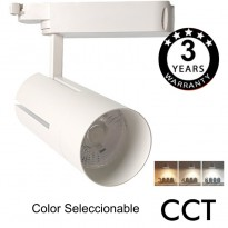 Foco LED 30W VIENA Blanco para Carril Monofásico 24º CRI +85 CCT Area-led
