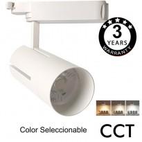 Foco LED 30W VIENA Branco para Carril Monofásico 24º CRI +85 Area-led - Iluminación LED