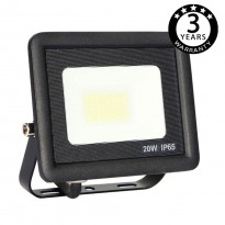 Foco Projector Exterior Preto LED 20W ACTION IP65 Area-led