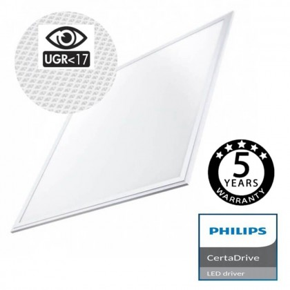 Panel LED 60x60 44W CERTA Driver Philips UGR17 - 5 años Garantia Area-led