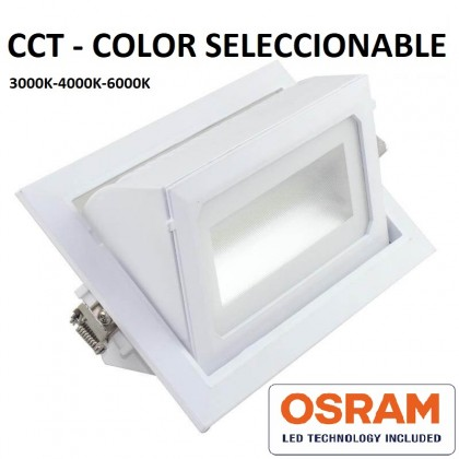 Empotrable LED 40W OSRAM Chip - CCT Color Seleccionable - 120º Area-led