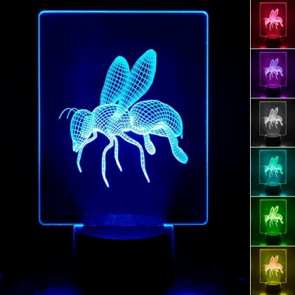 Lámpara de Mesa 3D RGB - ABEJA - Area-led