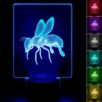 Lampada para de Mesa 3D RGB - Area-led - Lâmpadas De Led E Lâmpadas Decorativas De Parede