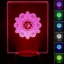 Lampada de Mesa 3D RGB - LOVE ANIMALS - Area-led - Lâmpadas De Led E Lâmpadas Decorativas De Parede