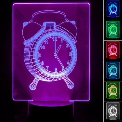 Lámpara de Mesa 3D RGB - RELOJ - Area-led