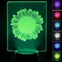 Lampada de Mesa 3D RGB - SUNFLOWER - Area-led - Lâmpadas De Led E Lâmpadas Decorativas De Parede