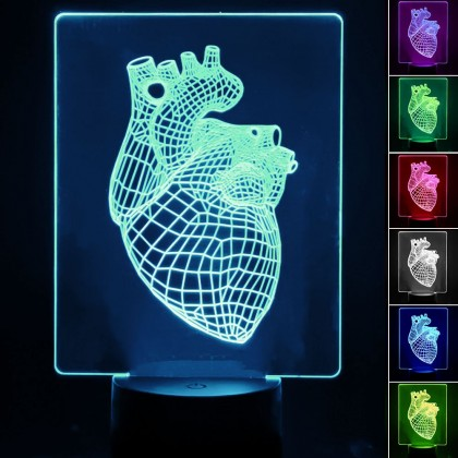 Lámpara de Mesa 3D RGB - HEART - Area-led