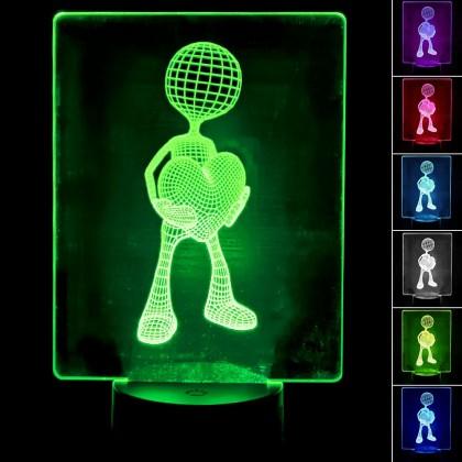 Lámpara de Mesa 3D RGB - LOVE - Area-led