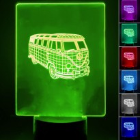 Lampada de Mesa 3D RGB - Area-led - Lâmpadas De Led E Lâmpadas Decorativas De Parede