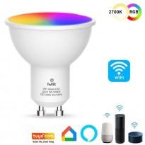 Dicroica LED 5W SMART Wifi RGB+CCT - Regulable - GU10 Area-led - Eficiencia Y Ahorro Domotica