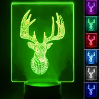 Lámpara de Mesa 3D RGB - CIERVO - Area-led - Iluminación LED