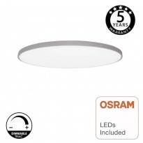 Plafón LED DIMABLE Superficie 18W OSRAM Chip - ASKER - Plata Area-led