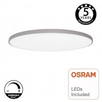 Plafón DIMABLE LED Superficie 24W OSRAM Chip - DRAMMEN - Plata Area-led
