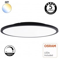 Plafón LED Superficie 40W DIMABLE - OSLO - Negro - COLOR SELECCIONABLE - CCT Area-led