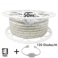 Bobina LED 10W Regulable 220V AC SMD 2835 120 LED/m IP65 - 13mm Area-led
