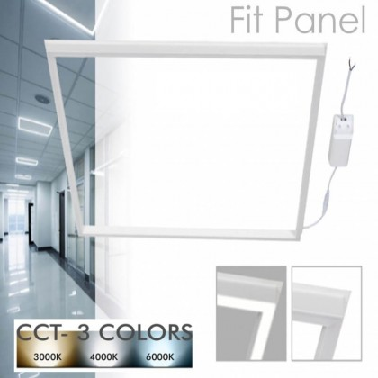 FIT Panel LED 60x60 44W Marco Luminoso Blanco - CCT Area-led