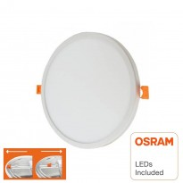 Placa Slim LED Circular Downlight 20W AJUSTABLE - OSRAM CHIP DURIS E 2835 Area-led