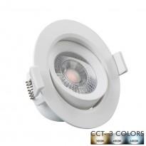 Empotrable LED 7W Circular Blanco - CCT Area-led - Downlights Led