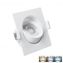 Empotrable LED 7W Cuadrado Blanco - CCT Area-led - Downlights Led