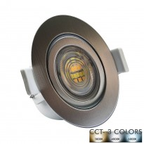 Empotrable LED 7W Circular - Gris Cromado - CCT Area-led - Downlights Led
