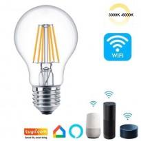 Bombilla LED Filamento 7W SMART Wifi - CCT - A60 Regulable - E27 Area-led - Eficiencia Y Ahorro Domotica