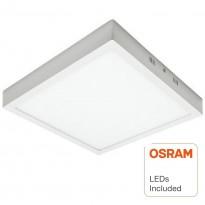 Plafón LED cuadrado superficie 30W - OSRAM CHIP DURIS E 2835 Area-led
