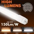 Tubo LED 8W Cristal 60cm 300º - ALTA LUMINOSIDAD - OSRAM CHIP Area-led