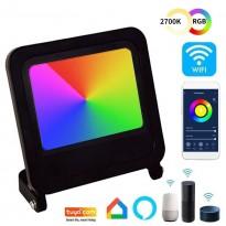 Foco Proyector LED 30W - SMART Wifi RGB+CCT - Regulable Area-led - Eficiencia Y Ahorro Domotica