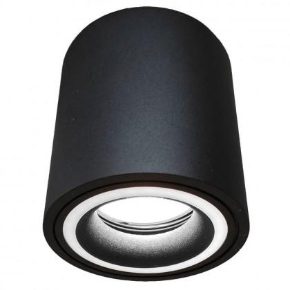 Aplique Techo LED Negro Aluminio - Doble Aro - para GU10 LED Area-led