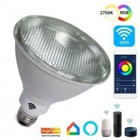 Lámpara PAR LED 12W SMART Wifi RGB+CCT - Regulable - E27 Area-led - Eficiencia Y Ahorro Domotica