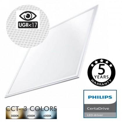 Panel LED 60x60 44W Certa Driver Philips UGR17 - CCT Area-led