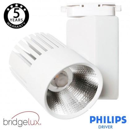 Foco LED 40W UPPSALA Blanco PHILIPS Driver Carril Monofásico CRI+92 Area-led