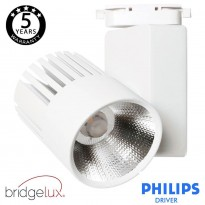 Foco LED 40W UPPSALA Blanco PHILIPS Driver Carril Monofásico CRI+92 Area-led - Iluminación LED