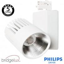 Foco LED 40W UPPSALA Blanco PHILIPS Driver Carril TRIFÁSICO CRI+92 Area-led - Iluminación LED