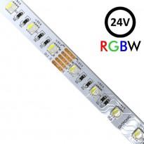 Tira LED 24V RGBW | 60xLED/m | 5m | SMD5050 | 560Lm | 13W/M | IP20 Area-led - Fitas Led E Neon Led