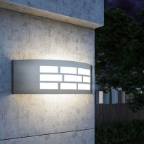 Aplique para LED E27 GOTEMBURGO INOX Exterior Area-led - Iluminación LED