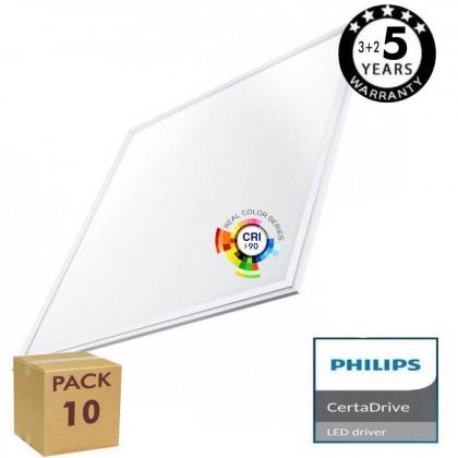 PACK 10 Panel LED 60x60 44W - Philips Certa Drive CRI+92 Area-led