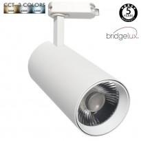 Foco LED 30W MAYA Carril Monofásico - CCT - DOB Driverless - CRI +90 - Blanco Area-Led - Iluminacion Comercial